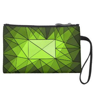 Geometric Diamond Jewel Bag Wristlet Purse