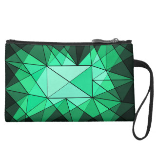 Geometric Diamond Jewel Bag Wristlet Clutch