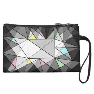 Geometric Diamond Jewel Bag Wristlet