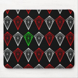 Geometric Diamonds Pattern Mouse Pad