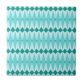 Geometric Diamonds & Starbursts Ceramic Tile