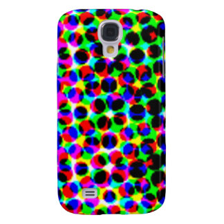 Geometric digital retro colorful pattern circles