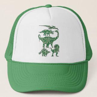 Geometric Dinosaurs Trucker Hat