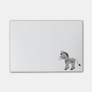 Geometric donkey post-it notes