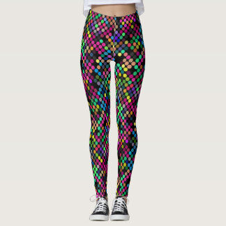Geometric dowries pattern - Multi colored Leggings
