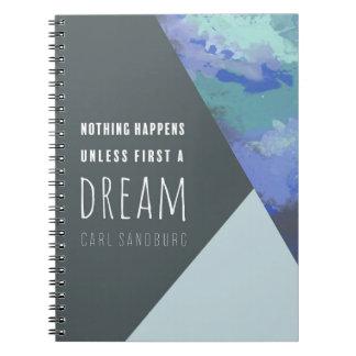Geometric Dream | Inspirational Spiral Notebook