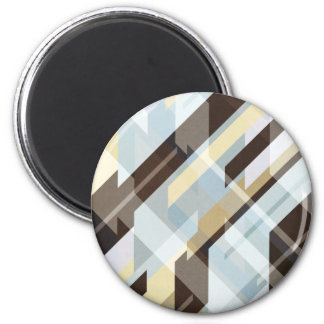Geometric Earth Tones Abstract 2 Inch Round Magnet
