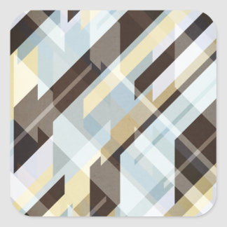 Geometric Earth Tones Abstract Square Sticker