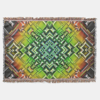 Geometric Earth Tones Throw Blanket