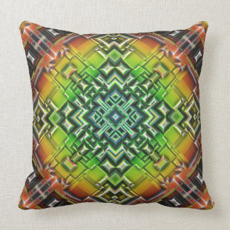 Geometric Earth Tones Throw Pillow