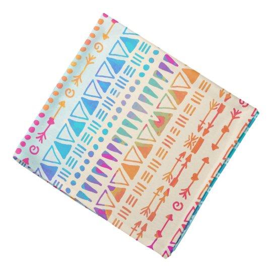 Geometric Ethnic Bohemian Colourful Hand Printed Head Kerchiefs