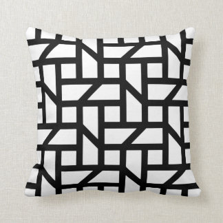 Geometric fashion for the home throw pillow