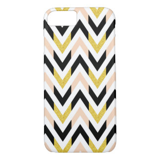 Geometric Faux Glitter Chevron Pattern iPhone 7 Case