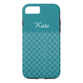 Geometric Filigree with Custom Name iPhone 8/7 Case