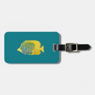 Geometric Fish Bag Tag