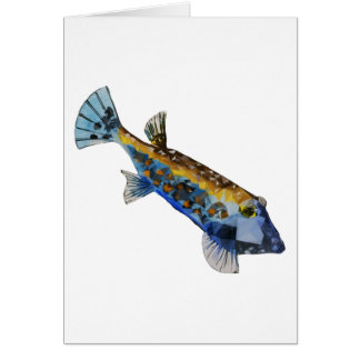 Geometric Fish Card
