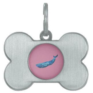 Geometric Fish Pet ID Tag
