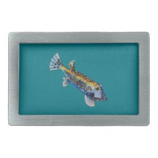 Geometric Fish Rectangular Belt Buckle