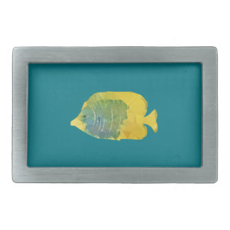 Geometric Fish Rectangular Belt Buckles