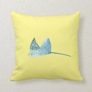 Geometric Fish Throw Pillow