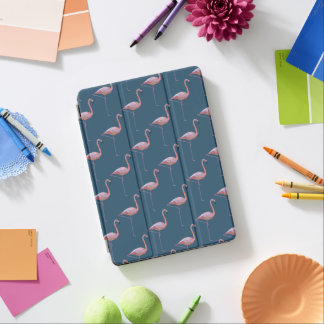 Geometric Flamingo Print Teal iPad Air Cover