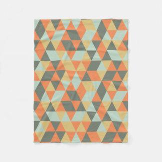 Geometric fleece blanket