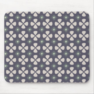 Geometric floral pattern with lucky clovers mouse pad