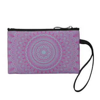 Geometric flower mandala coin purse