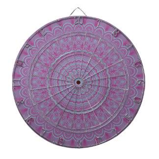 Geometric flower mandala dartboard