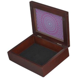 Geometric flower mandala keepsake box