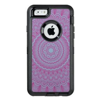 Geometric flower mandala OtterBox defender iPhone case