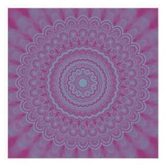 Geometric flower mandala perfect poster