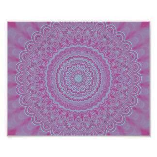 Geometric flower mandala photo print