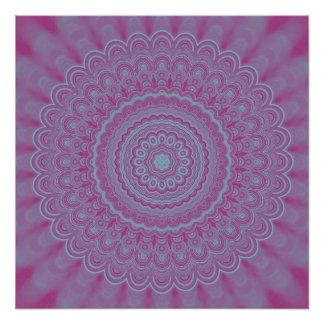 Geometric flower mandala poster