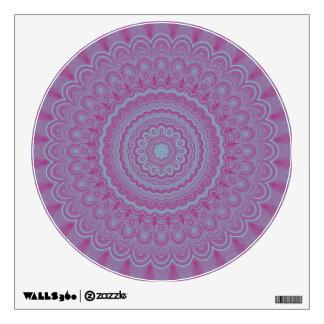 Geometric flower mandala wall decal