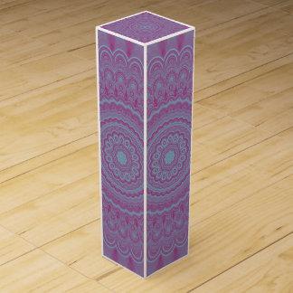 Geometric flower mandala wine box