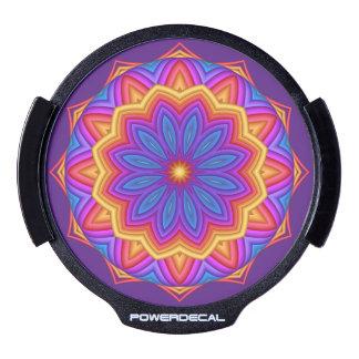 Geometric Flower Medallion LED Window Decal