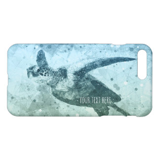 Geometric Flying Green Sea Turtle iPhone 8 Plus/7 Plus Case