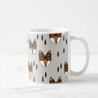 Geometric Fox Head / Grey Neutral / Andrea Lauren Coffee Mug