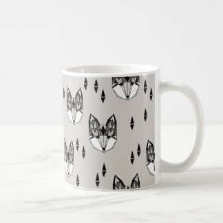Geometric Fox Head Woodland Animal / Andrea Lauren Coffee Mug