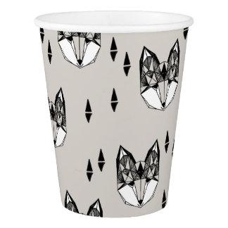 Geometric Fox Head Woodland Animal / Andrea Lauren Paper Cup