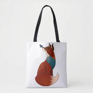 Geometric Fox Tote Bag