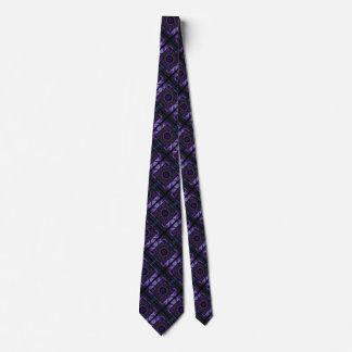 Geometric & Fractal Purple Pattern Tie