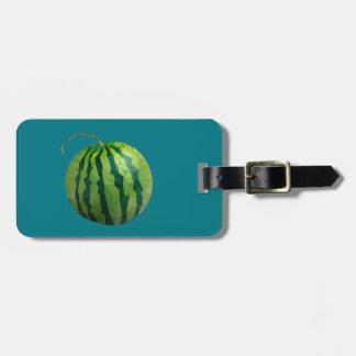 Geometric Fruit Luggage Tag