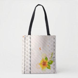 Geometric Fun Floral Design  Tote Bag
