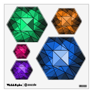 Geometric Gemstone Jewel Diamond Wall Decal