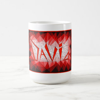 Geometric Gemstone Name Design David Coffee Mugs