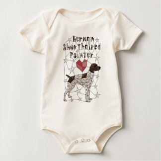 Geometric German Shorthaired Pointer Baby Bodysuit