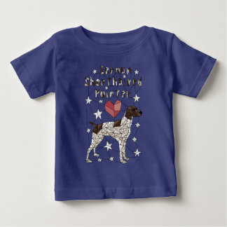Geometric German Shorthaired Pointer Baby T-Shirt