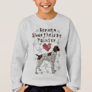 Geometric German Shorthaired Pointer Sweatshirt